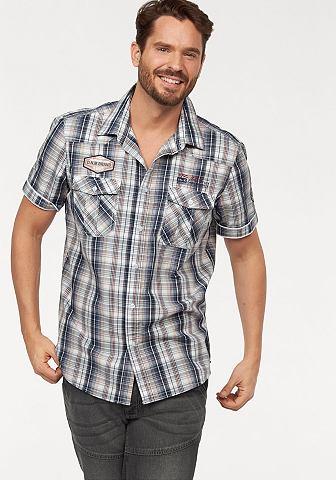 Man's World Man's World Košile modrá/bílá károvaná - standardní velikost XL (43/44)