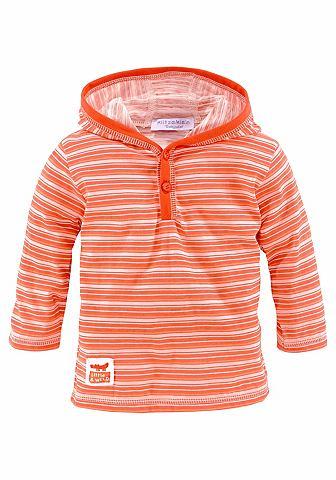 Klitzeklein Tričko s kapucí oranžová - standardní velikost 98