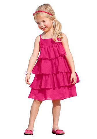 CFL CFL Šaty s volánkem, pro dívky pink - standardní velikost 98