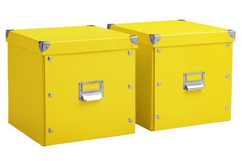 heine home Úložný box s víkem hnědošedá - VxŠxH cca 28x28x28 cm, 2-dílný set