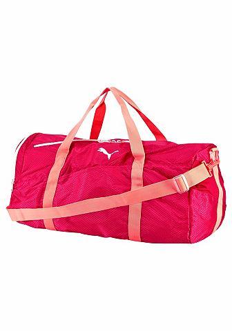 PUMA Puma FIT AT LARGE SPORTS BAG Sportovní taška černá/oranžová - standardní velikost