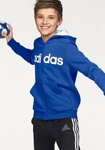 adidas Performance Mikina s kapucí »ESSENTIALS LINEAR FULL ZIP HOODIE«