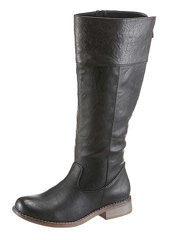 Rieker Rieker Kozačky černá/šedá - EURO velikosti - normální šířka 42 (8)