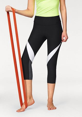 Nike Nike 3/4 kalhoty »NIKE PRO LEGEND CAPRI FABRIC TWIST« černá/bílá/šedá - standardní velikost L