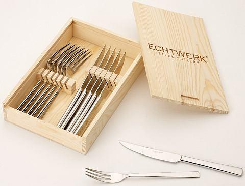 Echtwerk Steakové příbory Echtwerk, 12-dílná sada stříbrná barva