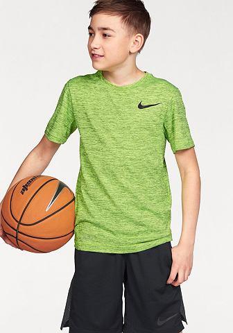 Nike Nike Sportovní tričko »DRI-FIT TRAINING SHORT SLEEVE TOP« modrá - standardní velikost XS (116/122)