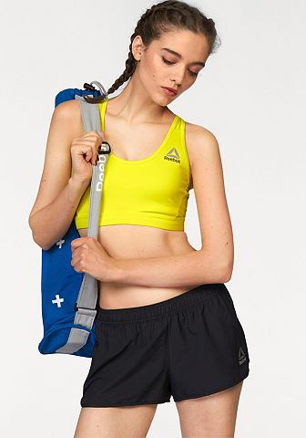 Reebok Sportovní podprsenka »Workout Ready Stacked Logo Medium Support Bra«