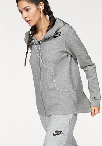 Nike Sportswear Nike Mikina s kapucí »NSW AV15 FLEECE CAPE« červená - standardní velikost XS