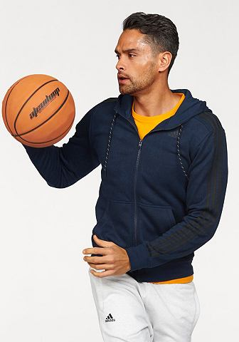 adidas Performance Mikina s kapucí »ESSENTIALS 3S FULLZIP HOODY AOP«