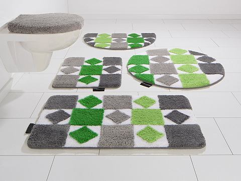 Bruno Banani Koupelnový kobereček, půlkruh, Bruno Banani, »Radasta«, výška 20 mm, protiskluzová úprava fialová - 20 mm 8 (půlkruh 50x80 cm)