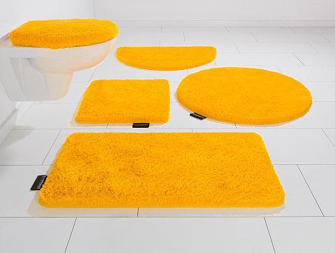 Koupelnový kobereček, 3-dílná souprava pro závěsné WC, Bruno Banani, »Lana«, výška 25 mm, protiskluzová úprava