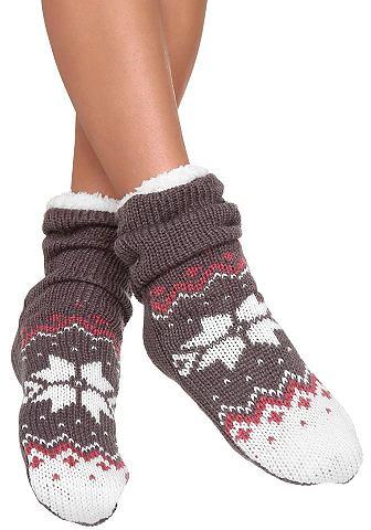 Arizona Pletené ponožky červená 1(35–41)