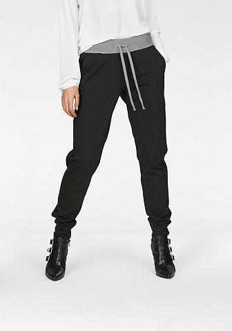 Laura Scott Laura Scott Kalhoty bez zapínání černá s proužky - standardní velikost 46