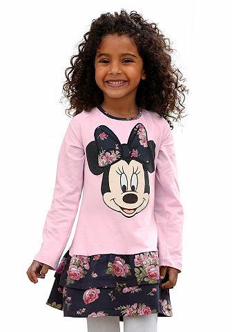 Disney Disney Mikina, velký potisk »Minnie Mouse« vpředu, pro dívky růžová s potiskem - standardní velikost 92/98