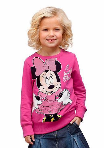 Disney Disney Mikina, velký potisk »Minnie Mouse« vpředu, pro dívky fuchsiová - standardní velikost 92/98