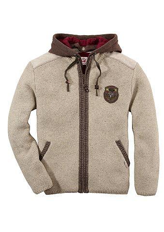 Pánský krojový pletený svetr s kapucí, Spieth & Wensky
