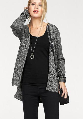 Vero moda® Vero Moda Dlouhý pletený svetr »NILLE« bordo melír - standardní velikost L (40)