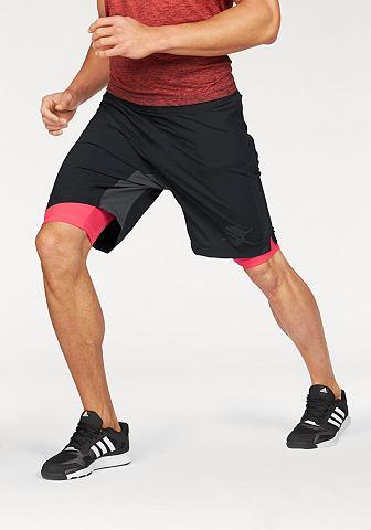 adidas Performance adidas Performance Šortky »ASS 2 GRASS 2IN1« černá/červená - standardní velikost XXL (60/62)