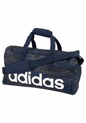 adidas Performance adidas Performance LINEAR PERFORMANCE TEAMBAG Sportovní taška námořní modř s potiskem - standardní velikost S