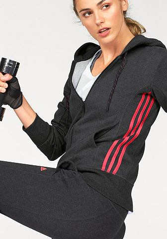 adidas Performance adidas Performance Mikina s kapucí »ESSENTIALS MID 3S HOODIE« černá/bílá - standardní velikost XXL (50-52)