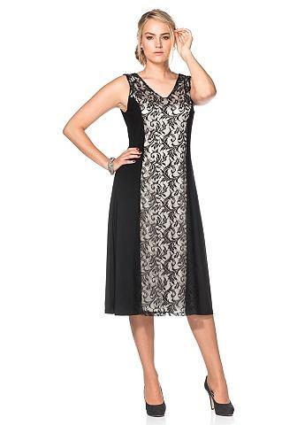 sheego Style Sheego Style Krajkové šaty černá - krátká 20