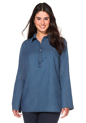 sheego Casual sheego Casual Tunika modrá denim 40