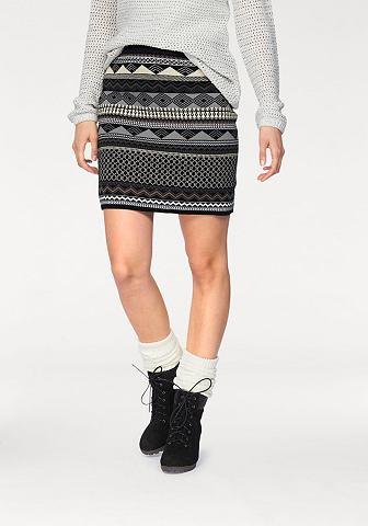 Boysen's Boysen 's Pletená sukně šedá/černá - standardní velikost 32/34(XS)