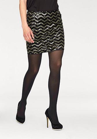 Vero moda® Vero Moda Sukně s flitry »LINN« černá/zlatá - standardní velikost L (40)