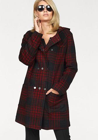 Laura Scott Laura Scott Zimní bunda černá/červená károvaná - standardní velikost 46