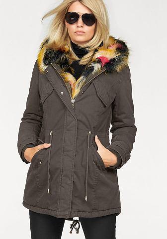 Laura Scott Laura Scott Dlouhá zimní bunda khaki - standardní velikost 46