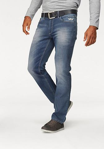 Arizona Arizona Elastické džíny »Jim« modrá obnošená - (délka 34 palce) 42