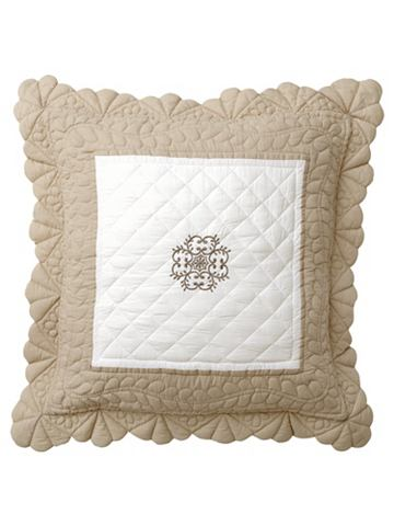 heine home Povlak na polštář bílá/béžová ca. 80x80 cm, jednotlivě