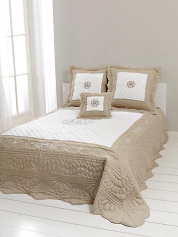 heine home Přehoz na postel bílá/béžová cca 270x250 cm