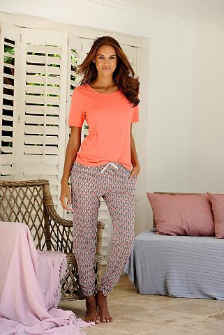 Lascana Noční prádlo: dlouhé kalhoty, LASCANA s písmem vzorovaná 44/46
