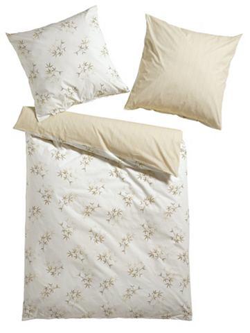 heine home Designové ložní prádlo bílá/přírodní cca 155x220 cm a cca 80x80 cm