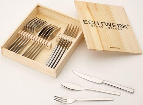 Echtwerk Steakový příbor Echtwerk »SARRE« (18-dílný sada) stříbrná barva