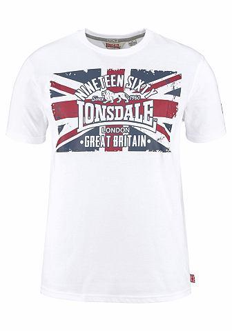 Lonsdale Lonsdale triko s kulatým výstřihem »BRIGG« bílá - standardní velikost S (44/46)