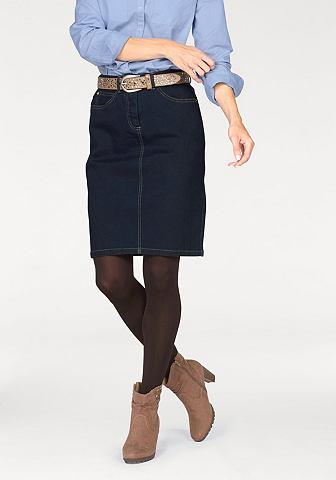 Corley Corley Džínová sukně tmavomodrá - standardní velikost 42