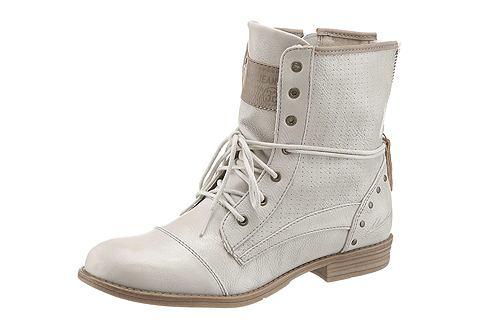Mustang Shoes Kotníkové kozačky, Mustang vlněná bílá - EURO velikost 37