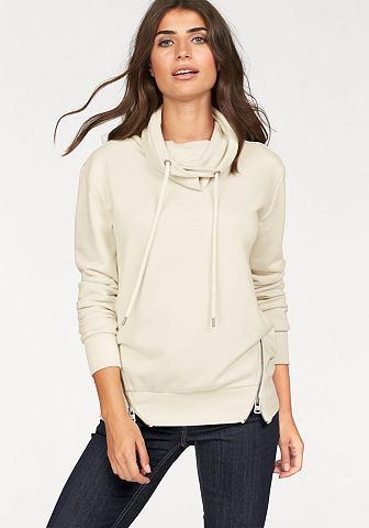 Cross Jeans Cross Jeans® mikina vlněná bílá+smetanová - standardní velikost L (38)