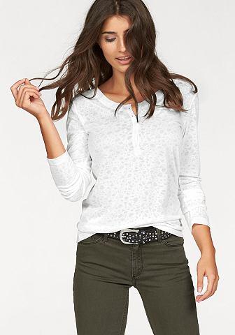 Cross Jeans Cross Jeans® triko s dlouhým rukávem vlněná bílá - standardní velikost L (38)