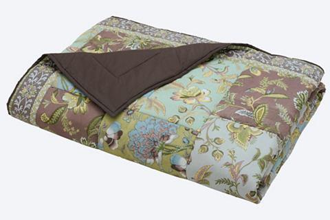 heine home Přehoz na postel zelená/modrá cca 280x250 cm