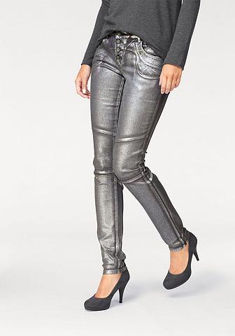 Laura scott Laura Scott Úzké kalhoty stříbrná-lesklá - standardní velikost 46
