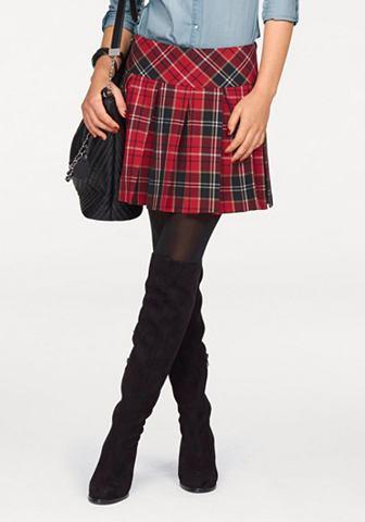 Melrose Melrose Sukně červená/s kára - standardní velikost 44