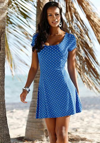 BEACHTIME Beach Time Letní šaty královská modř-bílá s potiskem 44