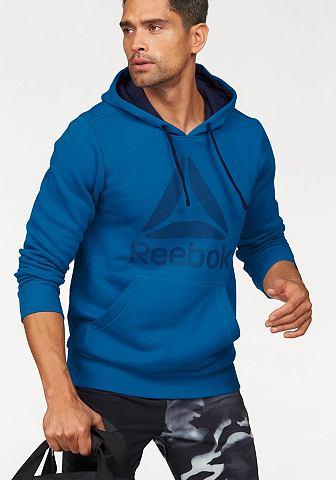 Reebok Reebok mikina s kapucí »Workout Ready Big Logo Cotton poly Hood« modrá - standardní velikost XXL (60/62)