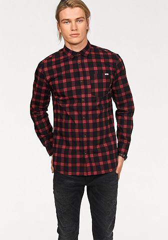 Jack & Jones Jack & Jones Kostkovaná košile červená/černá károvaná - standardní velikost XXL(43/44)