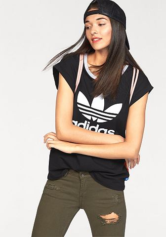 adidas Originals adidas Originals Tričko »BF ROLL UP TEE« černá - standardní velikost 44