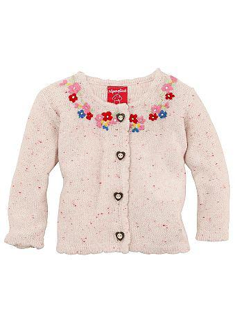 BONDI Krojový dětský svetr s květovanou výšivkou