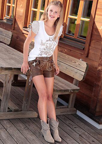Marjo Krojové kožené kalhoty krátké z noblesní kozí velurové kůže